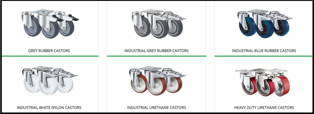How to find the right set of castor wheels based on the floor surfaces and weight-bearing capacity? - Scoop Article